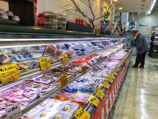 男性,店舗,食品,店内,ディスプレイ,年末年始,買物,多色,鮮魚売り場