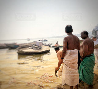 男性,海外,舟,旅行,河,インド,儀式,民族,ガンジス