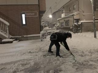 男性,スポーツ,雪,白,ウィンター,必死,雪かき,ハード