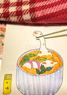 冬,文字,イラスト,室内,素朴,お雑煮,手書き,手描き,七味,フォトジェニック,サインペン,多色