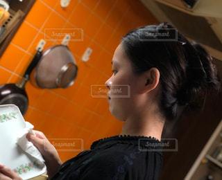 レトロな台所にての写真・画像素材[2460510]