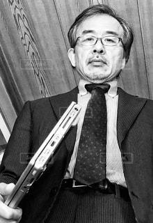 スーツとネクタイ☆モノクロの写真・画像素材[3012235]