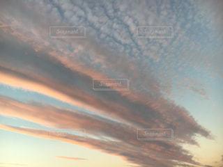 空,雲,夕暮れ,秋空
