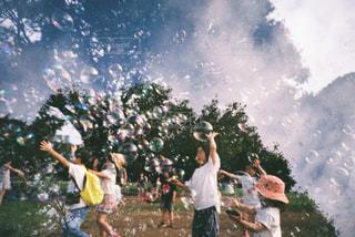 子ども,公園,シャボン玉,フィルム,スナップ,多重露光,フィルムカメラ,フィルム写真,フィルムフォト