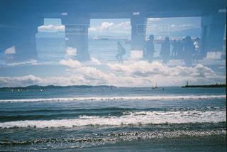 シルエット,人物,人,フィルム,多重露光,フィルムカメラ,フィルム写真,フィルムフォト,そら海