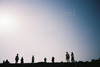 風景,空,太陽,シルエット,光,人物,フィルム,フィルムカメラ,フィルム写真