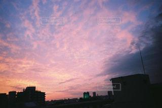 空,建物,太陽,雲,夕暮れ,光,都会,フィルム,くもり,フィルムカメラ,フィルム写真