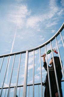 金属製のフェンスの写真・画像素材[2891052]