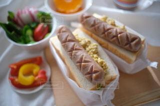 食べ物,食事,朝食,パン,野菜,サンドイッチ,食品,みかん,おいしい,レシピ,パプリカ,ウィンナー