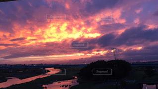 自然,空,夕日,屋外,夕焼け,二子玉川