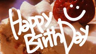 ケーキ,いちご,お祝い,happy,birthday,ハッピーバースデー,手書き,お誕生日,ショートケーキ,手書き文字