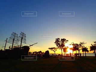 夕日,夕焼け,沖縄,サンセット,アラハビーチ,北谷,沖縄の景色,キレイな夕焼け