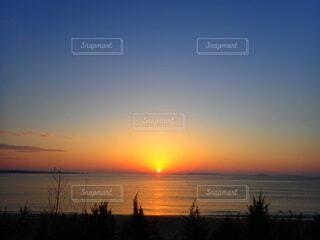 自然,風景,海,太陽,朝日,ビーチ,日の出,ベランダから