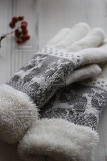 トナカイ柄の手袋❄️の写真・画像素材[1806488]