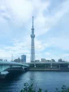 川と空と橋の写真・画像素材[1127986]