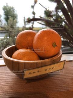 フルーツ,みかん,オレンジ色,蜜柑,盛り,どうぞ,サービス