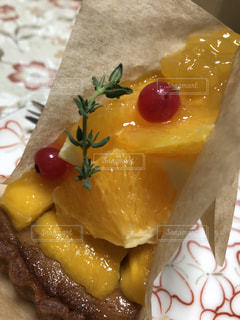 ケーキ,マンゴー,黄色,オレンジ,デザート,フルーツ,果物,タルト,食品