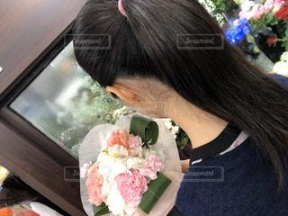 いつものお花屋さんでの写真・画像素材[3085263]