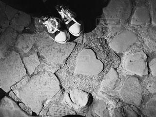 モノクロ,ハート,スニーカー,長崎,heart,sneaker,Nagasaki,グラバー園