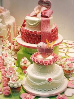 ケーキ,ピンク,ハート