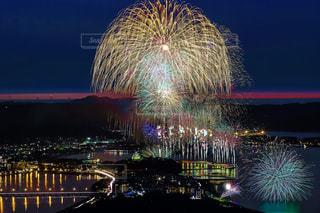 夜空の花火の写真・画像素材[1310302]
