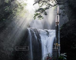 空,太陽,滝,光,正月,光芒,慈恩の滝