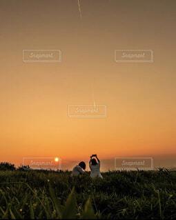 自然,屋外,太陽,朝日,正月,お正月,阿蘇,日の出,新年,初日の出