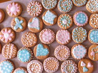 パステルアイシングクッキーの写真・画像素材[3112111]