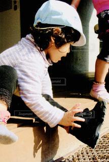 お靴、自分で履けるよ!の写真・画像素材[1169525]