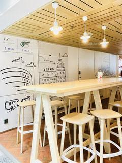 ヘルシンキ空港内のカフェの写真・画像素材[1247743]