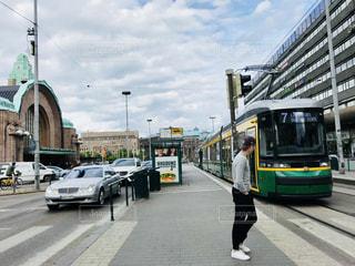 ヘルシンキの路面バスの写真・画像素材[1248841]