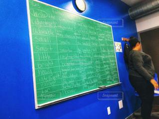 語学スクールの黒板の写真・画像素材[1297266]