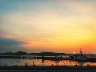 風景,海,空,夕日,夕焼け,船,景色,旅行,福岡,北九州,フォトジェニック,インスタ映え