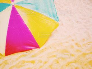 風景,海,夏,ニューヨーク,砂,ビーチ,カラフル,砂浜,海辺,アメリカ,景色,足跡,パラソル,夏休み,ビーチパラソル,ブルックリン,熱中症,フォトジェニック,コニーアイランド,インスタ映え,熱中症対策,多色