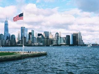 フェリーから見たマンハッタンの写真・画像素材[1415029]