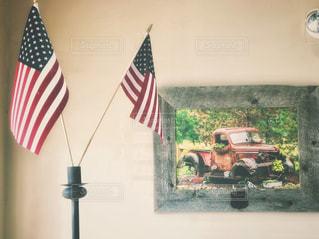 星条旗と写真の写真・画像素材[1438754]