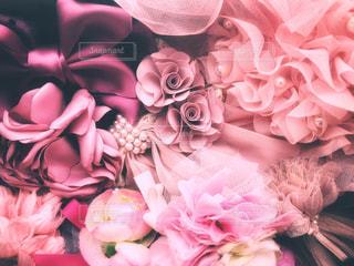 ピンクのヘアアクセサリーの写真・画像素材[1453450]