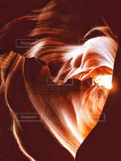 アンテロープキャニオンのハートの写真・画像素材[1453478]