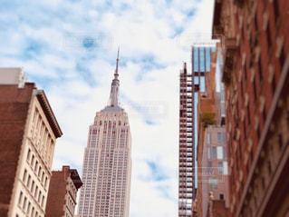 風景,空,建物,ニューヨーク,ビル,屋外,雲,アメリカ,景色,観光,都会,旅行,高層ビル,マンハッタン,都心,秋空,エンパイアステートビル,フォトジェニック,インスタ映え
