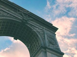 風景,空,公園,秋,ニューヨーク,海外,雲,夕暮れ,夕方,アメリカ,景色,アーチ,マンハッタン,秋空,フォトジェニック,インスタ映え,ワシントンスクエア・パーク,ワシントンスクエア・アーチ