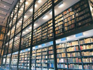 イェール大学図書館の書架の写真・画像素材[1592219]