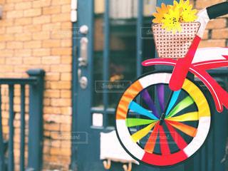 店先の可愛い自転車おもちゃの写真・画像素材[1595431]