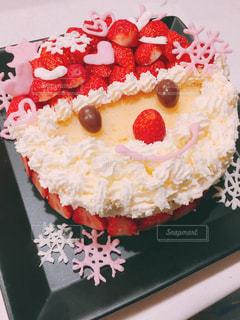 手作り、サンタのXmasケーキの写真・画像素材[1668584]