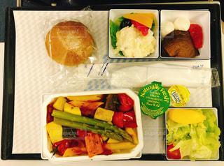 ベジタリアン機内食の写真・画像素材[1678992]