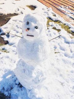 3段雪だるまの写真・画像素材[1691757]