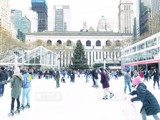 ブライアントパークでアイススケートの写真・画像素材[1717335]