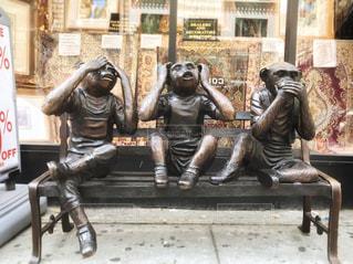 現代版!?三猿!の写真・画像素材[1718160]