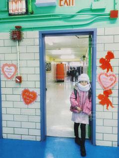 バレンタイン当日のNYの小学校の写真・画像素材[1812652]
