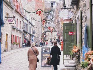 クリスマス前のケベックシティーの写真・画像素材[1817643]