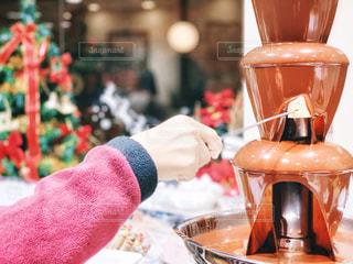 チョコレートフォンデュの写真・画像素材[2053890]
